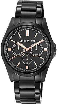 Vince Camuto Men's VC/1084BKBK Multi-Function Bracelet Watch