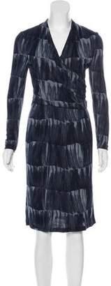 Armani Collezioni Printed Midi Dress
