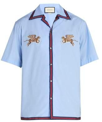Gucci Flying Tigers Bowling Shirt - Mens - Blue