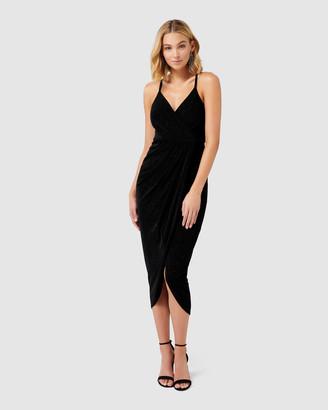 Gail Petite Glitter Jersey Dress