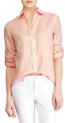 Lauren Ralph Lauren Long-Sleeve Linen Button-Down Shirt