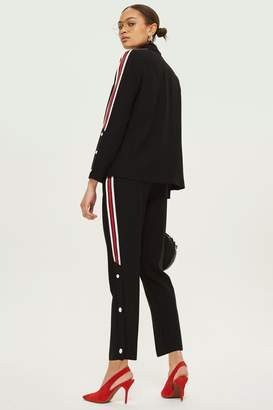 Topshop Side Striped Popper Trousers
