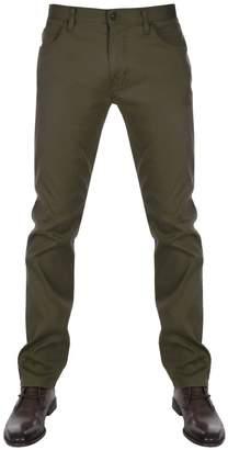 Giorgio Armani Jeans J45 Slim Fit Trousers Khaki