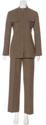 Max Mara Wool Mid-Rise Wide-Leg Pant Set