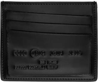 Maison Margiela Black Logo Card Holder