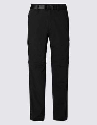 Marks and Spencer Trekking Zip-Off Trousers with Belt