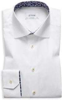 Eton Contemporary-Fit Palm Tree Dress Shirt