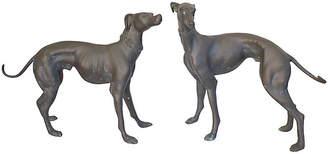 One Kings Lane Vintage Bronze Whippet Statues - Pr - G3Q Designs