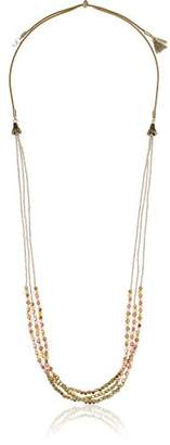 "lonna & lilly Women's Gold-Tone and Rose 24"" Adjustable Multi Row Necklace"