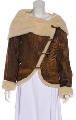 Alexander McQueen Shearling Hooded Jacket