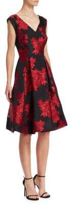 Zac Posen Floral Fit-&-Flare Cocktail Dress