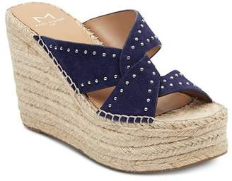 Marc Fisher Women's Angelina Studded Espadrille Wedge Sandals