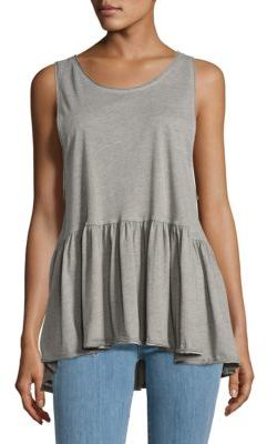 Free People Catina Peplum Tank Top $48 thestylecure.com