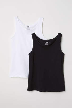 H&M 2-pack Tank Tops - Black
