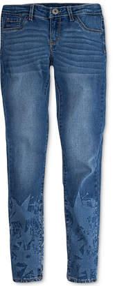 Levi's 710 Super Skinny Bleach-Out Star Jeans, Big Girls