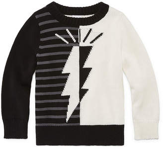 Okie Dokie Round Neck Long Sleeve Pullover Sweater-Toddler