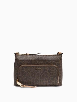 Calvin Klein monogram zip crossbody bag