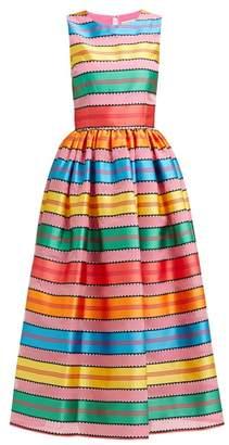 Mary Katrantzou Astere Stripe Jacquard Satin Gown - Womens - Multi Stripe