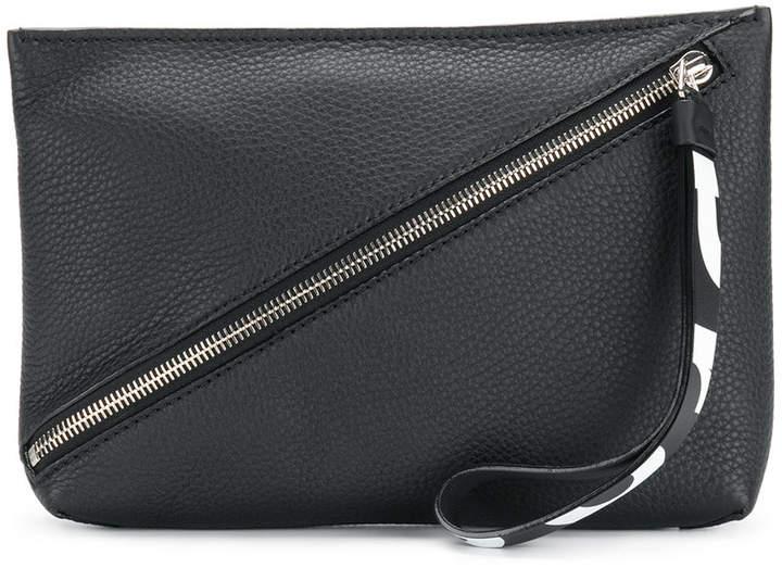 Proenza Schouler front zip clutch