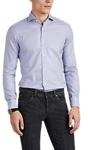 Barba Men's Gingham Cotton Shirt - Purple