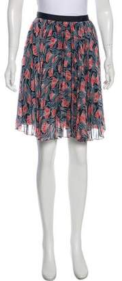 Jason Wu Silk Printed Skirt