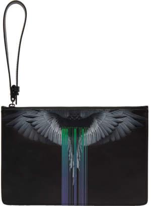 Marcelo Burlon County of Milan Black Wings Barcode Pouch