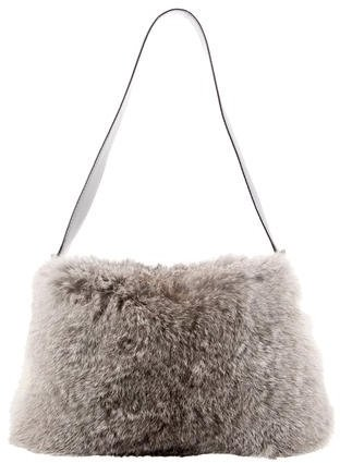 Celine Céline Rabbit Fur Shoulder Bag