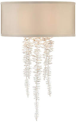 John-Richard Collection Cascading Crystal Sconce - Silver