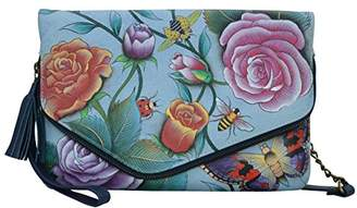 Anuschka Hand Painted Leather Women's Convertible Envelope Clutch Wristlet