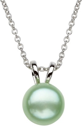 """Honora Sterling Color Cultured Pearl Pendant with 18"""" Chain"""