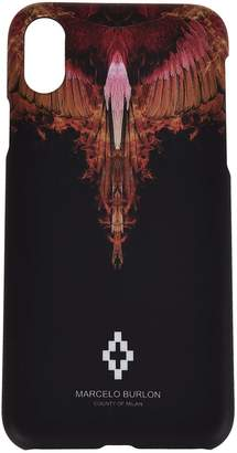 Marcelo Burlon County of Milan Rainbow Flame Print Iphone X Case