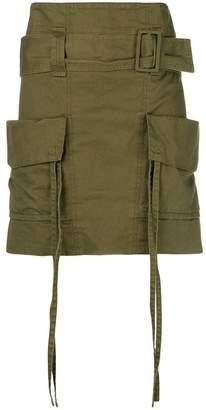 Saint Laurent cargo skirt