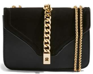 Topshop Daisy Chain Faux Leather Crossbody Bag