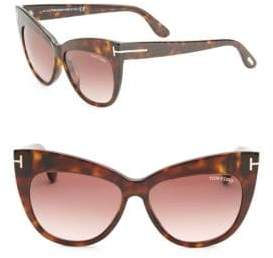 Tom Ford Nika 56MM Cat Eye Sunglasses