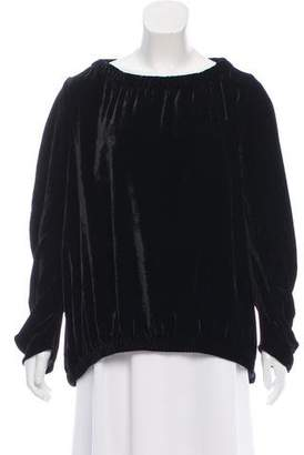 Zero Maria Cornejo Velvet Long-Sleeve Top w/ Tags
