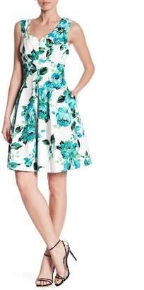 Gabby Skye Sleeveless Floral Fit & Flare Dress