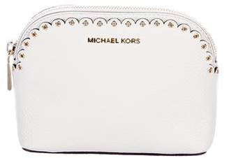 MICHAEL Michael Kors Pebbled Leather Scalloped Cosmetic Pouch