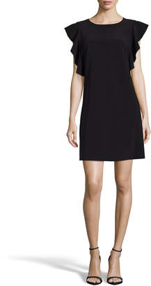 Nicole Miller New York Ruffle-Sleeve Mini Shift Dress