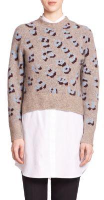 3.1 Phillip LimIntarsia-Knit Layered Shirtdress