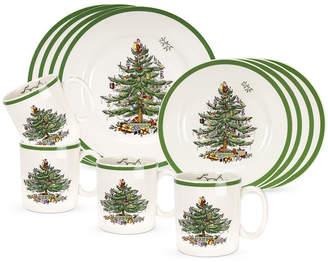Spode Christmas Tree 12-pc. Dinnerware and Mug Set
