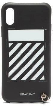 Off-White Off White Diagonal Stripe Iphone X Case - Mens - Black White