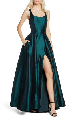 Mac Duggal Front Slit Ballgown with Train