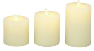 Benzara Timeless Set Of 3 Flameless Candle With Remote