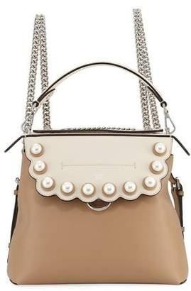 Fendi Back To School Pearlescent Leather Backpack/Crossbody Bag