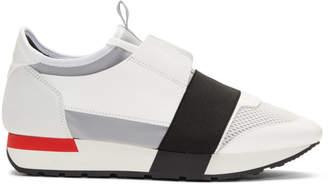 Balenciaga White Race Sneakers