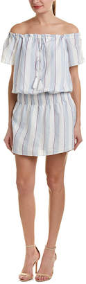 Parker Off-The-Shoulder Drop-Waist Dress