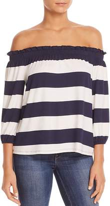 Three Dots Striped Off-The-Shoulder Top