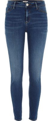 River Island River Island Womens Mid blue wash Molly jeggings