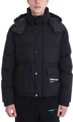 Off-White Black Poliester Down Jacket
