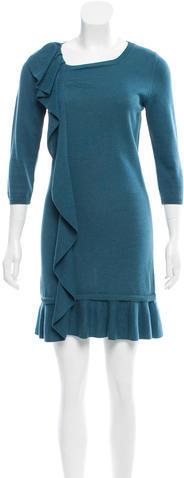 RED ValentinoRed Valentino Overlay Rib Knit Dress